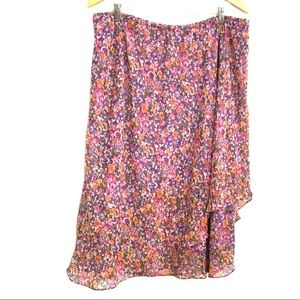 Vintage skirt floral KSL by Karen Stevens 18W